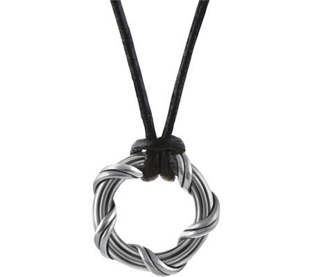 "Peter Thomas Roth Sterling Explorer 1"" Circle Necklace"