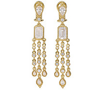 Judith Ripka 14K Clad Diamonique Dangle Earrings - J381438