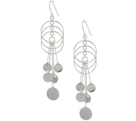 Dominique Dinouart Sterling Multi-Circle Dangle Earrings