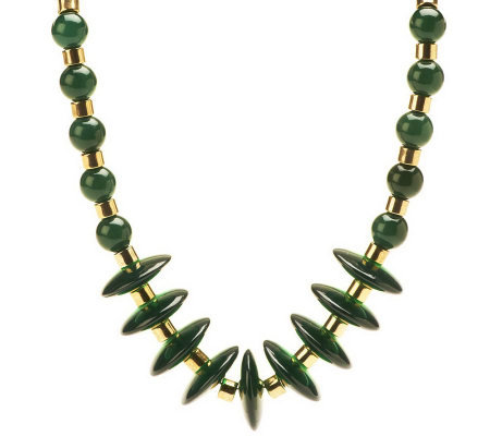 Luxe Rachel Zoe Contour Bead Necklace