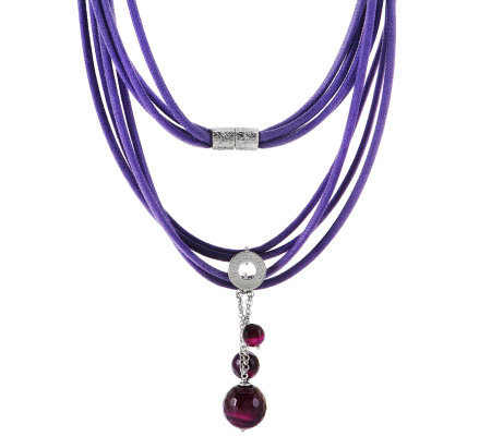 Ippocampo Sterling Gemstone Bead Multi-strand Necklace