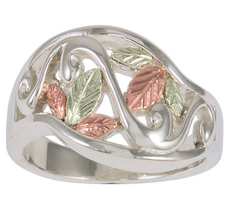 Black Hills Classic Vine Ring, Sterling/12K Gol d