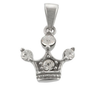 Mixers Sterling Crystal Crown Pendant - J304739