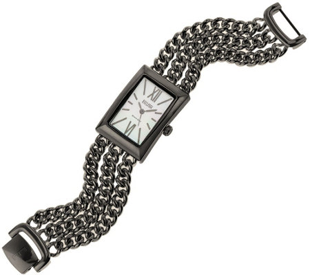 Ecclissi Sterling Silver Multi-Strand Bracelet Watch