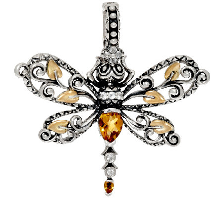 Barbara Bixby Sterling & 18K Multi-Gemstone Dragonfly Enhancer