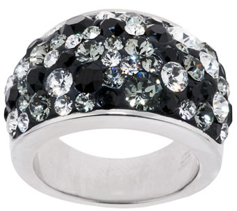 """As Is"" Bronzo Italia Bold Domed Shades of Crystal Ring - J325839"