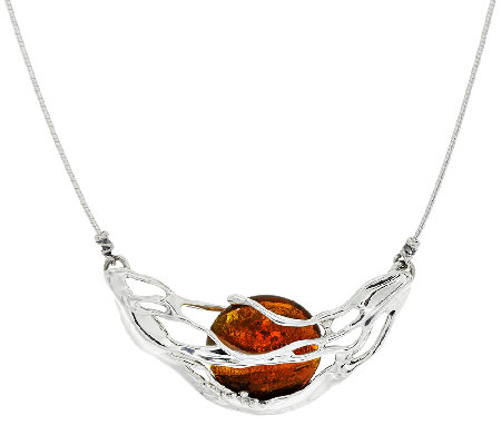 Kalos by Hagit Sterling Silver and Glass Sedona Necklace
