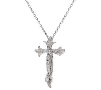 Scott Kay Sterling Silver Cross Necklace - J327639