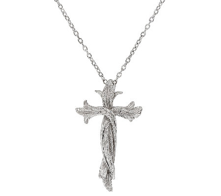 Scott Kay Sterling Silver Cross Necklace