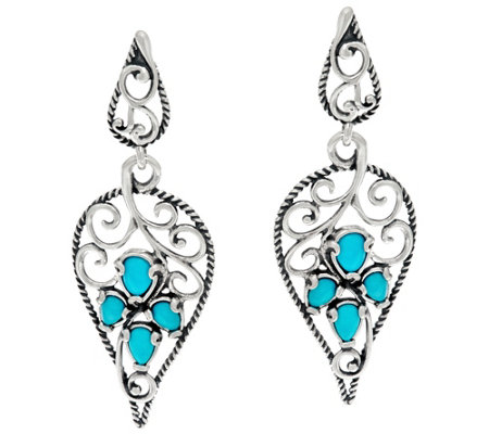 Carolyn Pollack Sleeping Beauty Turquoise Sterling Earrings