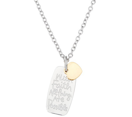 Stainless Steel Inspirational Dog Tag Necklace