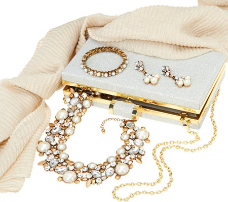 Charming Charlie Holiday Jewelry & Accessory Set
