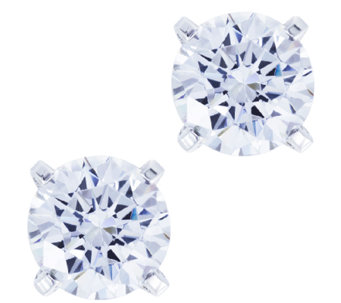 Diamonique 4.00 cttw Stud Earrings, Platinum Clad - J337139