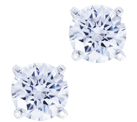 Diamonique 4.00 cttw Stud Earrings, Platinum Clad