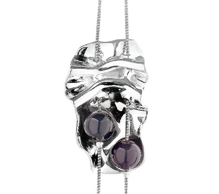 "Hagit Sterling ""Opening Night"" Necklace w/ Black Onyx Beads"