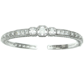 Judith Ripka Sterling Three-Stone Diamonique Cu ff - J337939