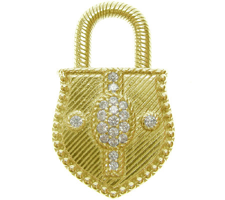 Judith Ripka Sterling/14K Clad Diamonique Lock Enhancer