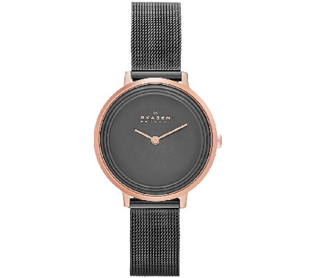 Skagen Women's Rosetone Gray Dial Watch