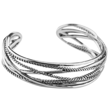 Carolyn Pollack Sterling Signature Rope Cuff