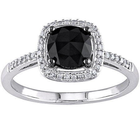 Black Diamond Ring, 14K, 1.00 cttw, by Affinity