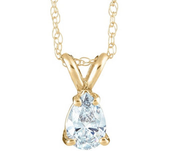 Pear Shaped Diamond Pendant, 14K Yellow, 1/2 cttw, by Affinity - J345039