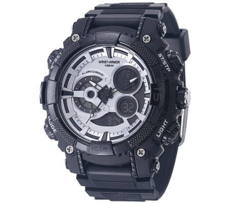 Wrist Armor C40 Multifunction Watch - Silvertone and Black