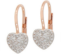 Pave Heart Diamond Earrings, 1/5 cttw, 14K by Affinity - J352039