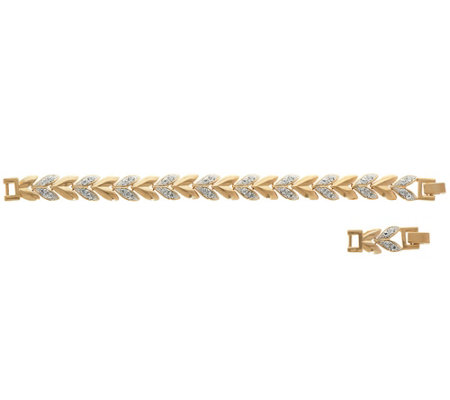 Grace Kelly Collection Goldtone Heart Linked Bracelet