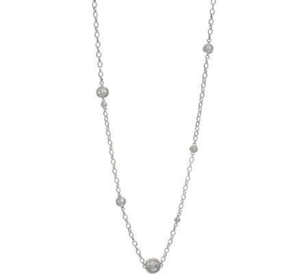 "RLM White Bronze Hammered Ball 36"" Station Necklace"