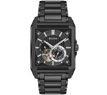 Bulova Men's Automatic Black IP Watch