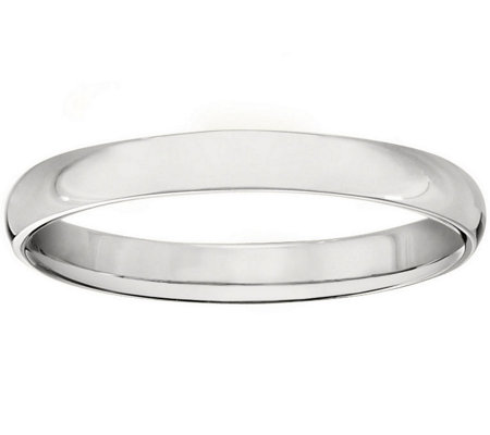 Women's 18K White Gold 3mm Half-Round Wedding Band