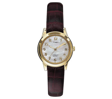 Timex Ladies Casual Watch with Brown Croco Strap