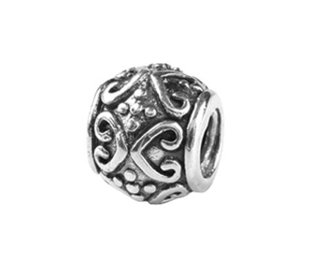 Prerogatives Sterling Scroll and Dots Bali Bead