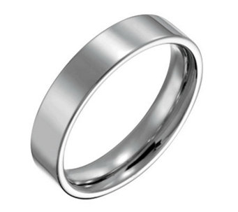 Forza Men's 5mm Steel Flat Polished Ring - J109540