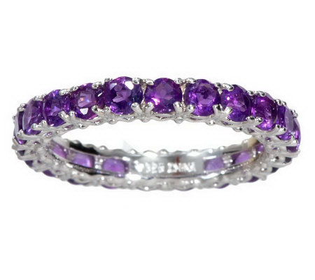 eternity gemstone sterling band ring page 1 qvc