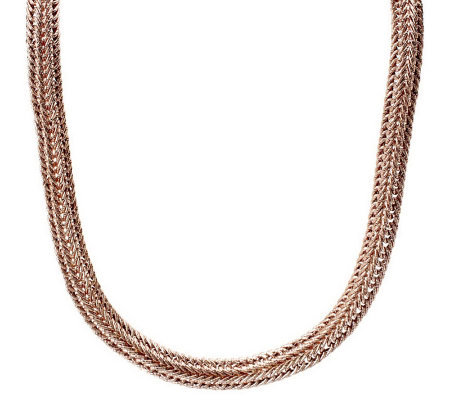 Bold Intricate Textured Woven Necklace 14K Gold, 18.3g