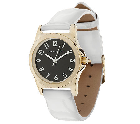 Isaac Mizrahi Live! Colorful Strap Watch Strap Watch