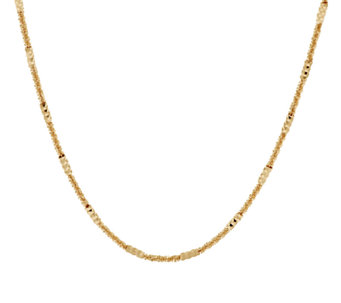 "Bronze 16"" Solid Station Margherita Necklace by Bronzo Italia - J293540"