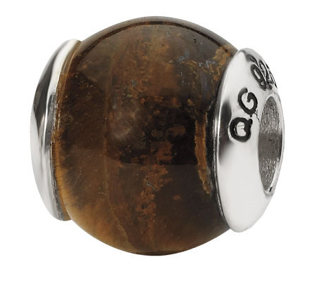 Prerogatives Sterling Tiger's-Eye Gemstone Bead