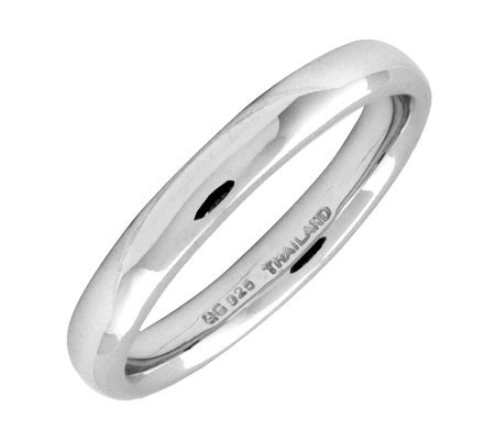 Simply Stacks Sterling Silver Rounded Polished3.25mm Ring