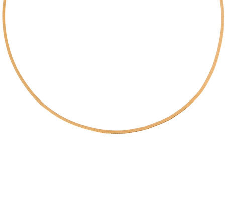"Veronese 18K Clad 18"" Herringbone Chain Necklace"