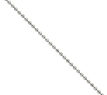 "Stainless Steel 18"" 2.0mm Polished Bead Chain Necklace - J308440"