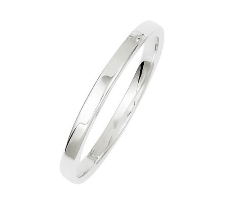 Sterling 2mm Polished Flat Ring