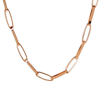 "Bronze 36"" Elongated Oval Link Necklace by Bronzo Italia - J311740"