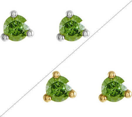 Choice of Color Diamond Stud Earrings, 1/4 cttw by Affinity