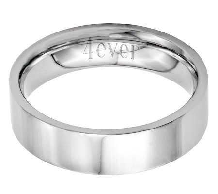 Stainless Steel 6mm Flat Polished Engravable Ring