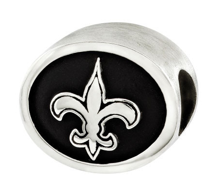 Sterling New Orleans Saints NFL Bead
