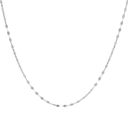 "14K Gold 18"" Diamond Cut Solid Starburst Chain Necklace"