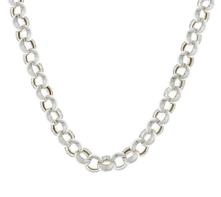 """As Is""Sterling 20"" Bold Polished Rolo Link Necklace 46.5g"