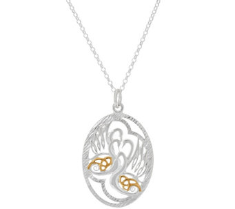 JMH Jewellery Sterling Silver Irish Legends Pendant with Gold Detail - J318740